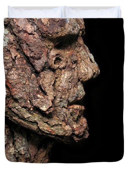Revered  A natural portrait bust sculpture by Adam Long Duvet Cover by Adam Long