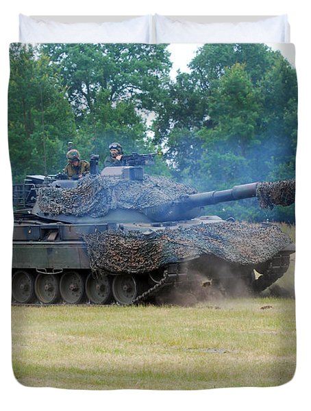 The Leopard 1a5 Main Battle Tank Duvet Cover by Luc De Jaeger