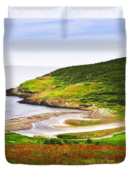Atlantic Coast In Newfoundland Duvet Cover by Elena Elisseeva