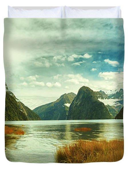 Milford Sound Duvet Cover by MotHaiBaPhoto Prints