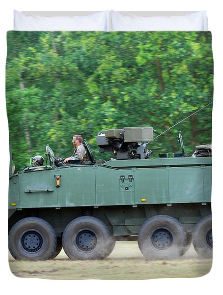 The Piranha Iiic Of The Belgian Army Duvet Cover by Luc De Jaeger