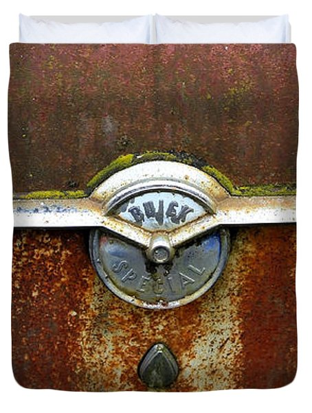 54 Buick Emblem Duvet Cover by Steve McKinzie