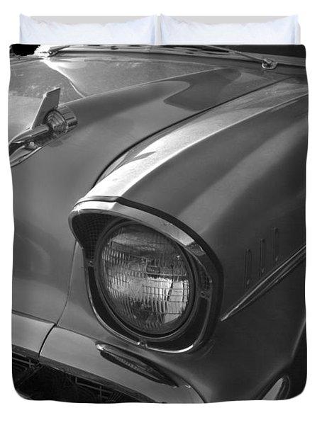 '57 Chevy Bel Air Duvet Cover by Debra and Dave Vanderlaan