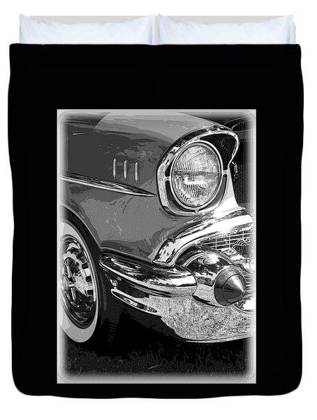 57 Chevy  Duvet Cover by Steve McKinzie