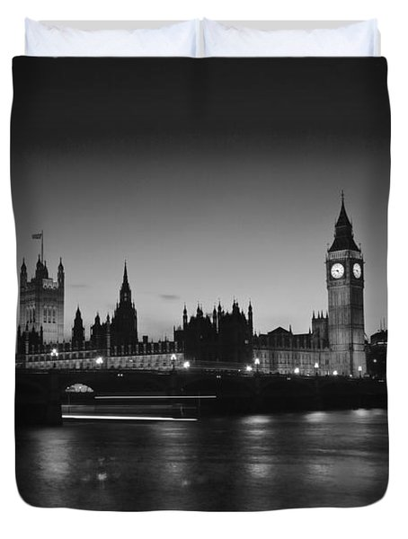 London  Skyline Big Ben Duvet Cover by David French