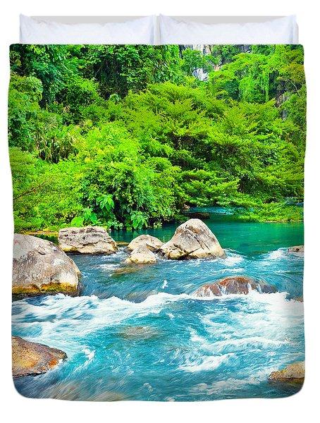 Stream  Duvet Cover by MotHaiBaPhoto Prints
