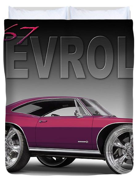 67 Chevrolet Impala Duvet Cover by Mike McGlothlen