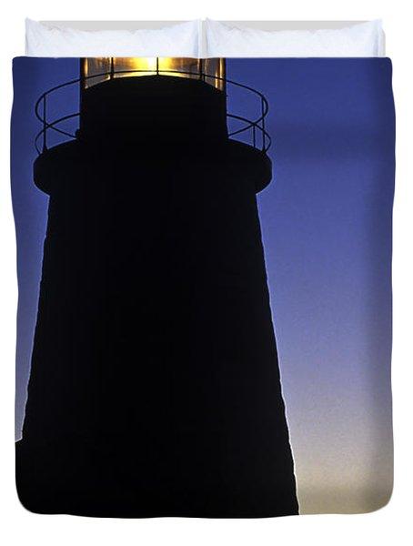 Pemaquid Point Lighthouse Duvet Cover by John Greim