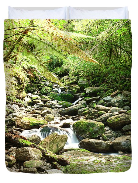 Stream Duvet Cover by MotHaiBaPhoto Prints