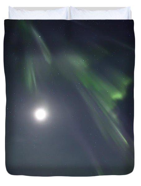 Aurora Borealis Or Northern Lights Duvet Cover by Robert Postma