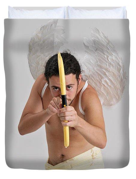 Cupid The God Of Desire Duvet Cover by Ilan Rosen