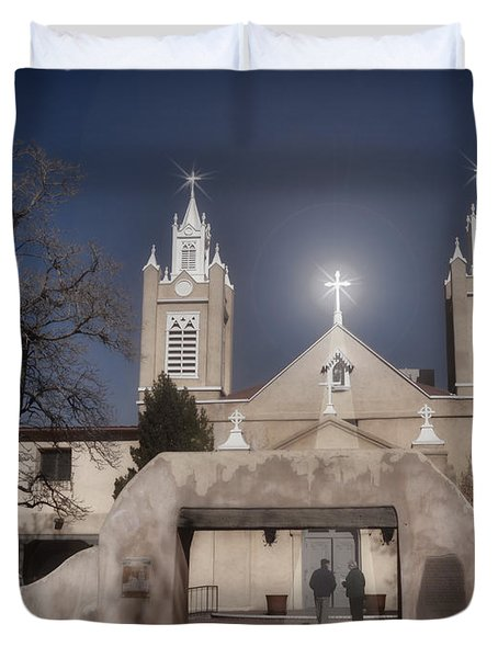 A Blessed Couple Duvet Cover by Donna Greene