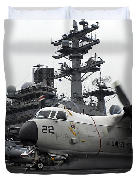 A C-2a Greyhound Launches Duvet Cover by Stocktrek Images