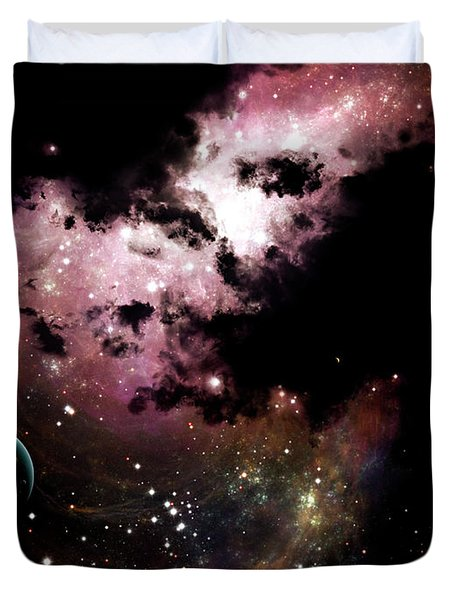 A Cluster Of Bright Young Stars Tear Duvet Cover by Brian Christensen