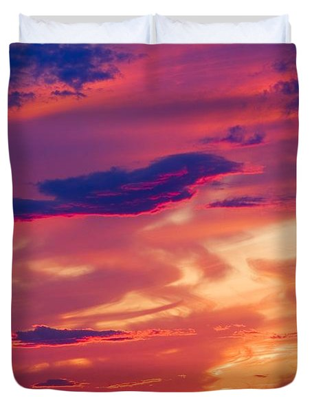 A Colorful Sky Duvet Cover by Carson Ganci