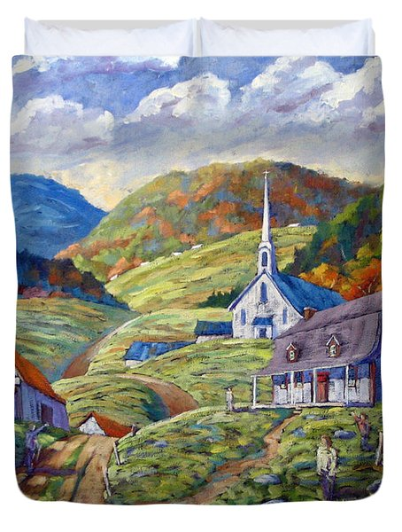 A Day In Our Valley Duvet Cover by Richard T Pranke