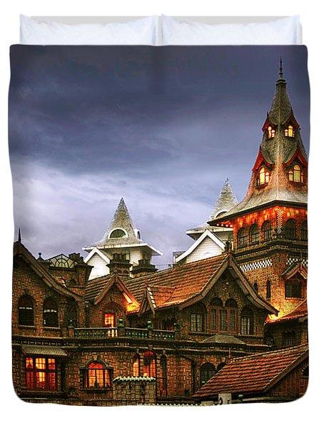 A Fairytale - Eric Moller Villa Shanghai Duvet Cover by Christine Till
