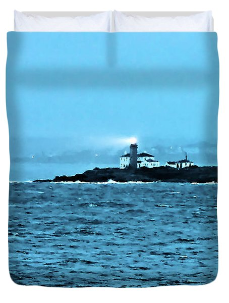 A Friend In The Darkness Duvet Cover by Kristin Elmquist