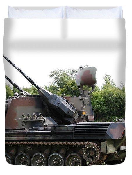 A Gepard Anti-aircraft Tank Duvet Cover by Luc De Jaeger