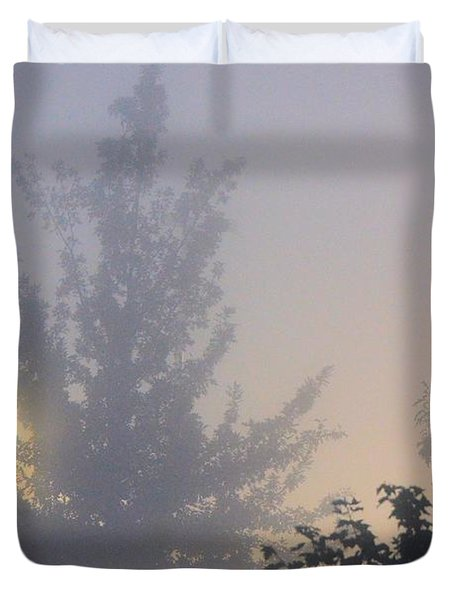 A Gothic Night's Stroll Duvet Cover by Maria Urso