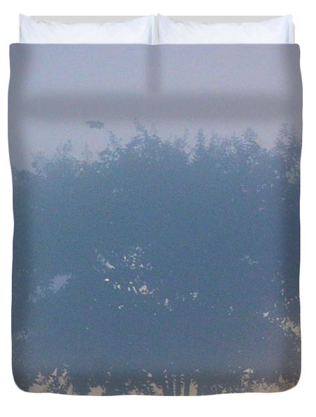 A Gothic Silhouette Duvet Cover by Maria Urso