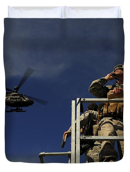 A Joint Terminal Attack Controller Duvet Cover by Stocktrek Images