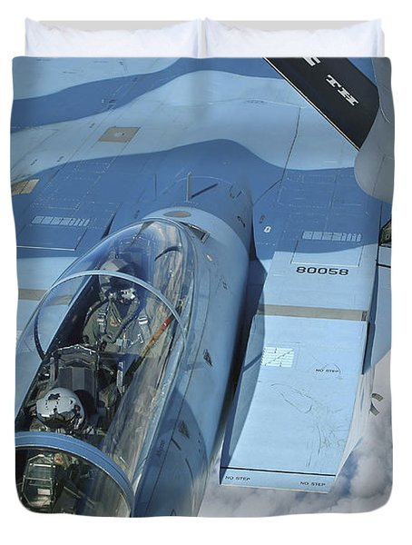 A Kc-135 Stratotanker Provides Duvet Cover by Stocktrek Images