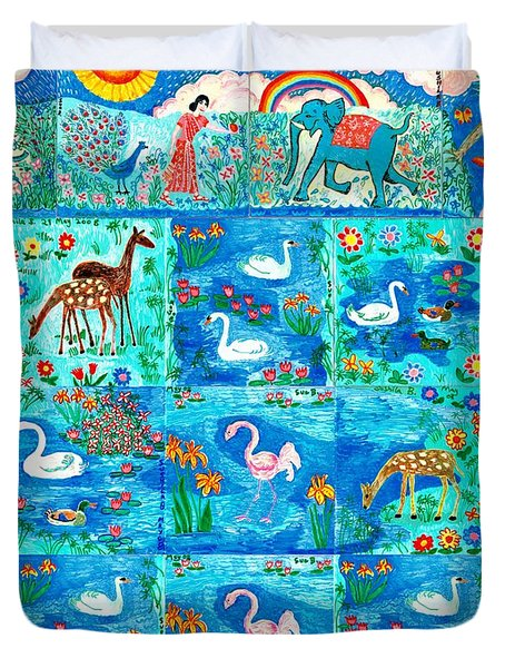 A Magic Country Duvet Cover by Sushila Burgess