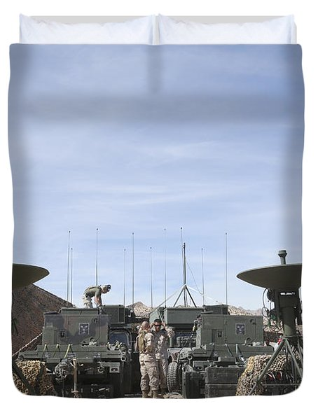A Marine Unmanned Aerial Vehicle Duvet Cover by Stocktrek Images