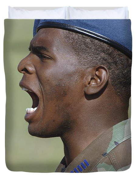 A Member Of The U.s. Air Force Academy Duvet Cover by Stocktrek Images