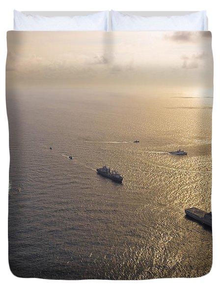 A Multi-national Naval Force Navigates Duvet Cover by Stocktrek Images