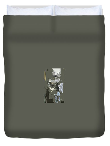 A Nightly Knight Duvet Cover by Karen Francis