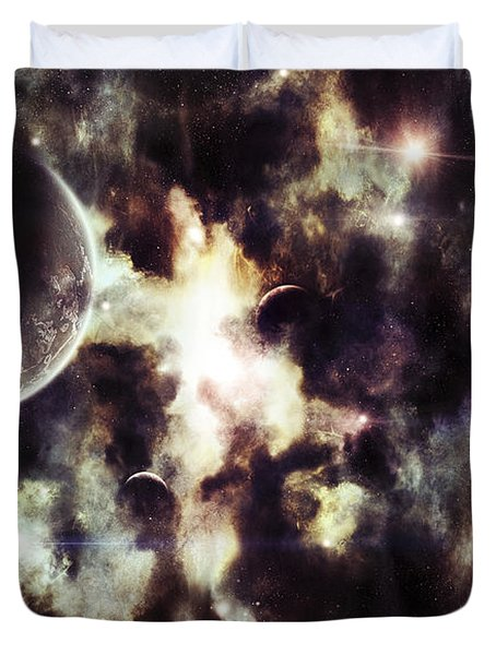 A Parallel Universe So Thin Youre Able Duvet Cover by Tomasz Dabrowski