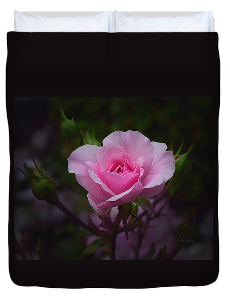A Pink Rose Duvet Cover by Xueling Zou