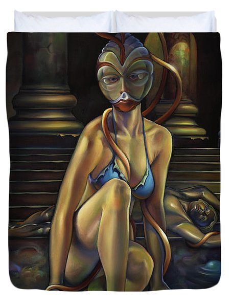 A Princess Of Mars Duvet Cover by Patrick Anthony Pierson