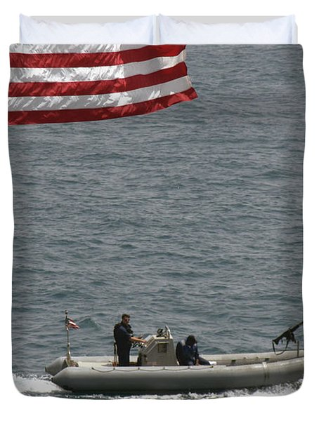 A Rigid Hull Inflatable Boat Duvet Cover by Stocktrek Images