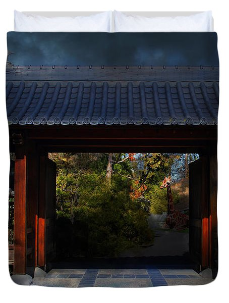 A Samurai.s Menagerie . 7D12779 Duvet Cover by Wingsdomain Art and Photography