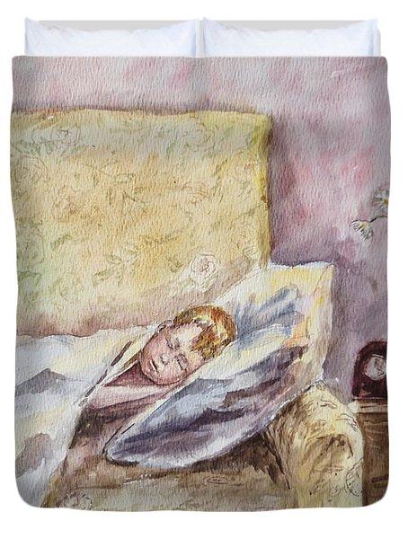 A Sleeping Toddler Duvet Cover by Irina Sztukowski
