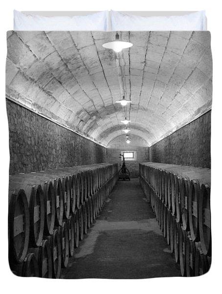 A Spanish Cellar Duvet Cover by John Stuart Webbstock