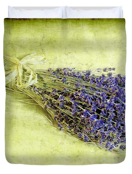 A Spray of Lavender Duvet Cover by Judi Bagwell