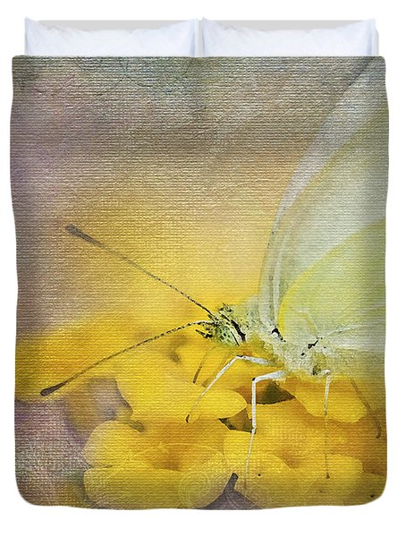 A Touch Of Yellow Duvet Cover by Betty LaRue