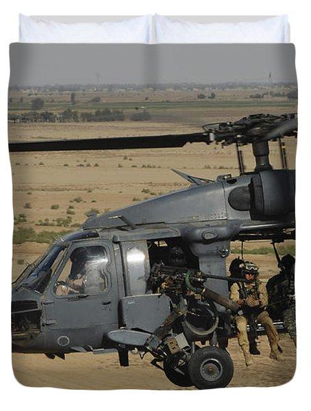 A U.s. Air Force Hh-60 Pavehawk Flies Duvet Cover by Stocktrek Images