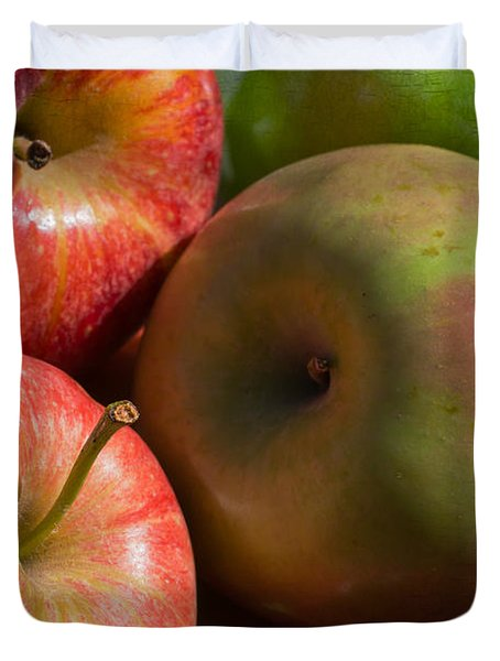 A Variety Of Apples Duvet Cover by Heidi Smith