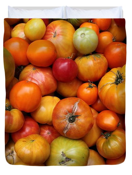 A Variety Of Fresh Tomatoes - 5d17812-long Duvet Cover by Wingsdomain Art and Photography