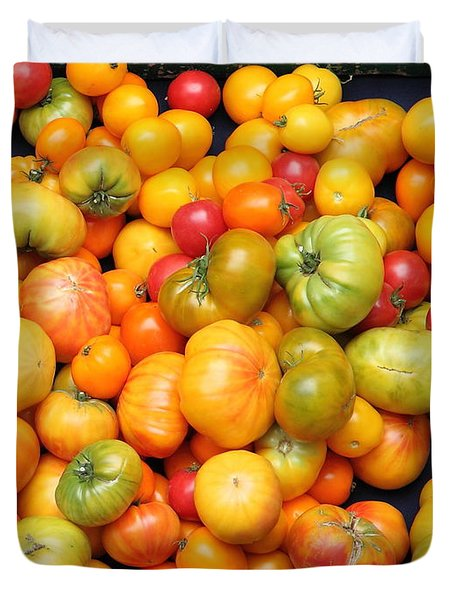 A Variety of Fresh Tomatoes - 5D17904 Duvet Cover by Wingsdomain Art and Photography
