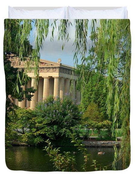 A View of the Parthenon 8 Duvet Cover by Douglas Barnett