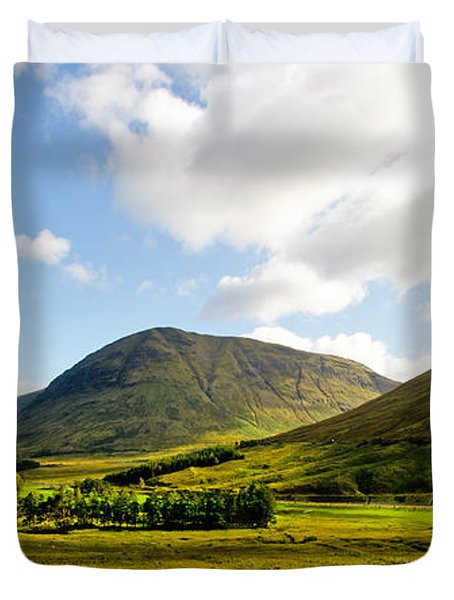 A View Over Rannoch Moor Duvet Cover by Chris Thaxter