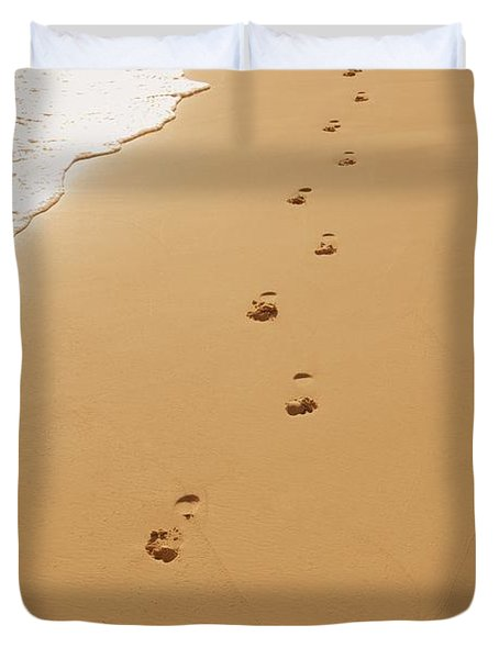 A Walk On The Beach Duvet Cover by Don Hammond