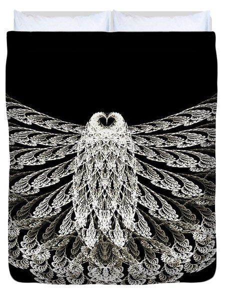 A Wise Old Owl Duvet Cover by Andee Design