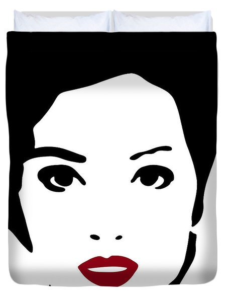 A Woman In Fashion Duvet Cover by Frank Tschakert